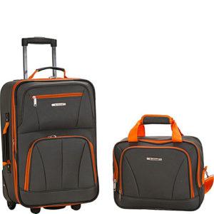 Rockland 2 piece luggage set charcoal