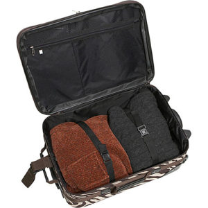 Rockland 2 piece luggage set open