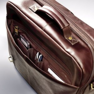 Samsonite Leather Messenger under flap