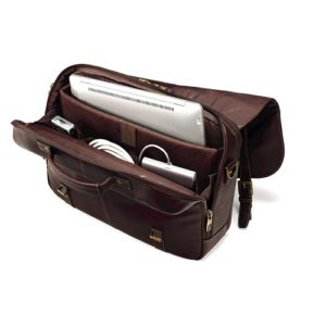 Samsonite Leather Messenger open