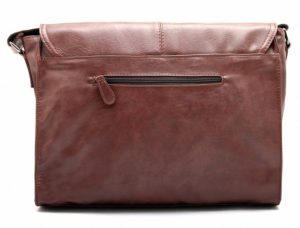 Zebella vintage leather briefcase back