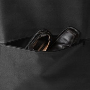 wallybags garment bag bottom pocket