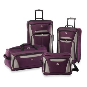American Tourister Luggage Fieldbrook II 4 Piece Set Purple