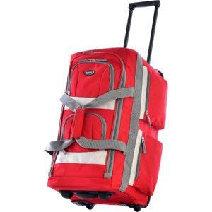 Olympia 22 inch duffel bag red